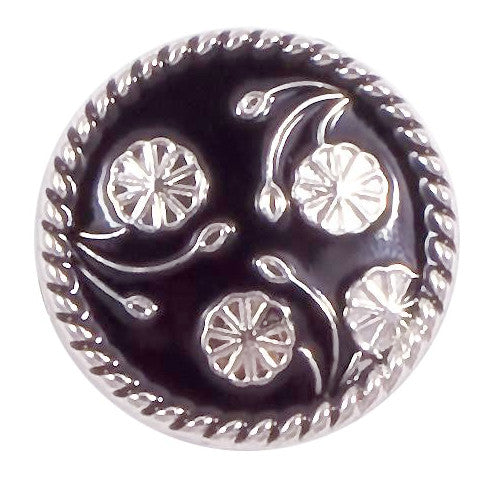 Black and Silver Pinwheel Metal Popper