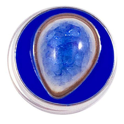 Blue Stone Teardrop snap