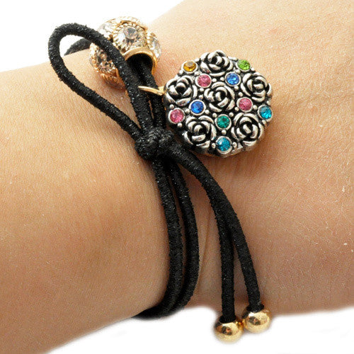 Elastic Beaded Snap Hair Tie or Bracelet: