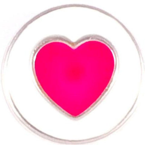 Pink Metal Heart snap