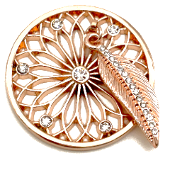 Rose Gold Dreamcatcher Flower Coin - Gracie Roze