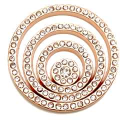 Rose Gold, Silver or Gold Circles of Crystal Coin - Gracie Roze