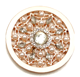 Rose Gold, Silver, Gold, Black, Pearl and Crystal Web Coin - Gracie Roze