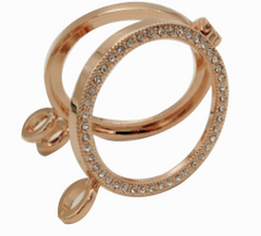 *Reversible Rose Gold Plated Coin Shel with Chain
