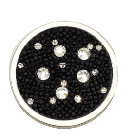 Black and White Crystals Coin for Coin Shel