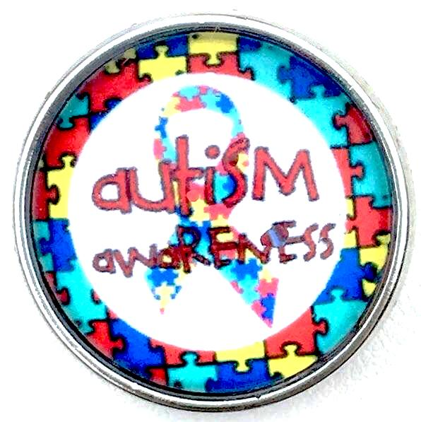 Autism Awareness Snap - Gracie Roze Yourself Expression Snap Jewelry
