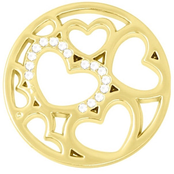 Gold - Hearts to Hold Coin - Gracie Roze