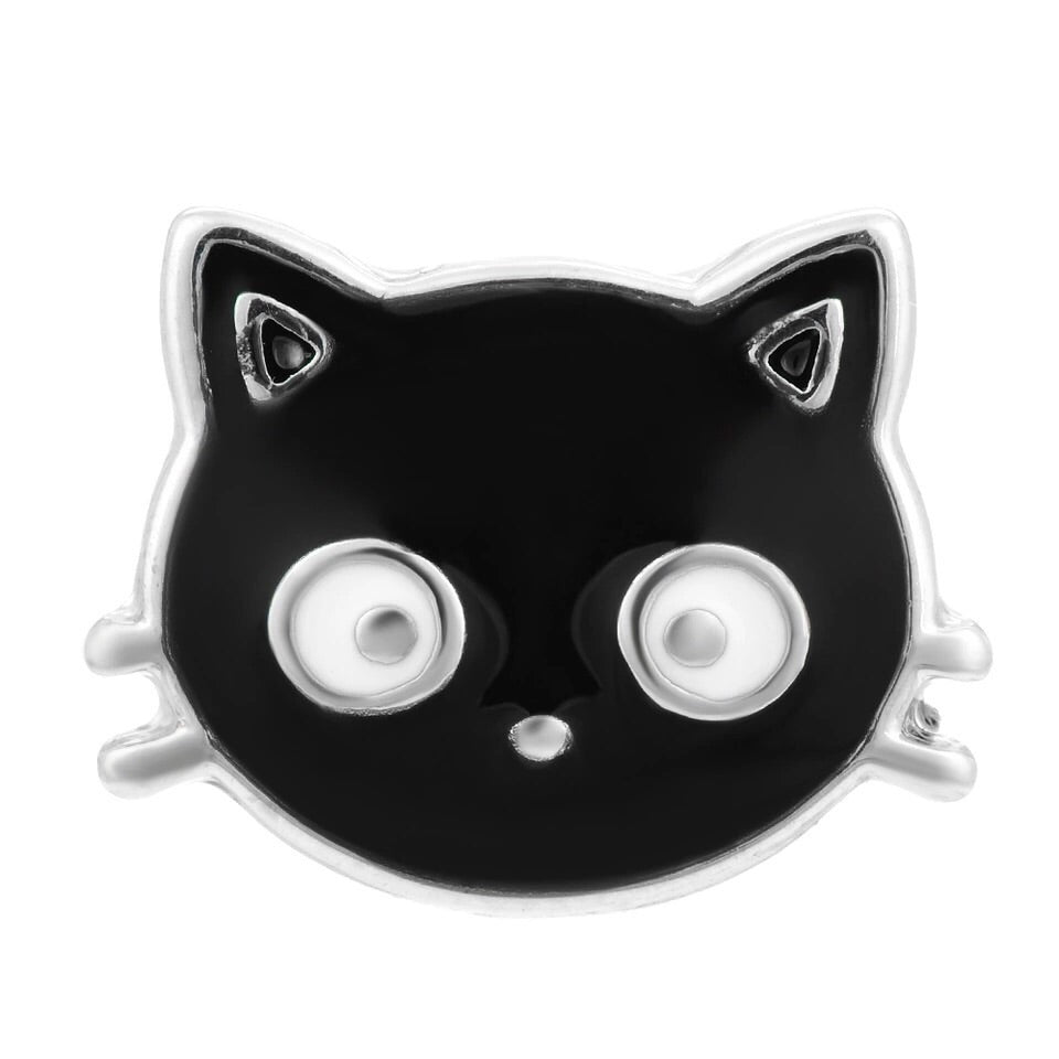 Black Cat Mini Snap - Gracie Roze Yourself Expression Snap Jewelry