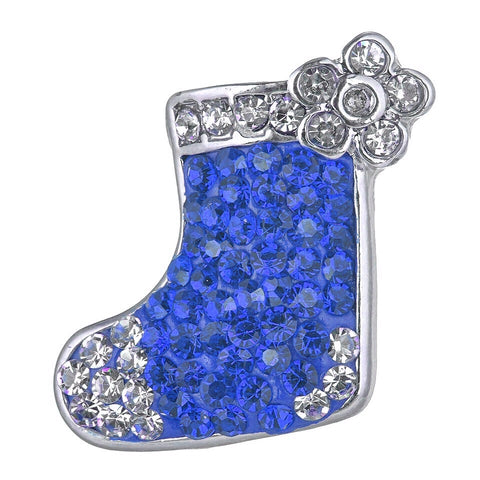 Crystal Blue Christmas Stocking Snap