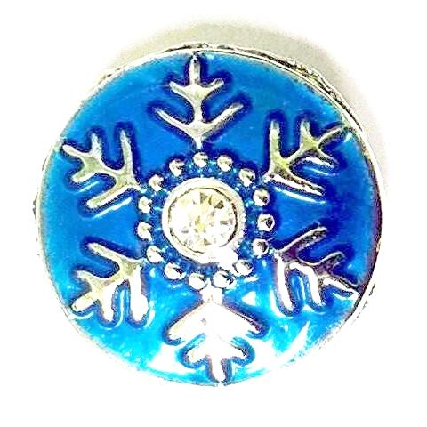 Blue Snowflake with Crystal Popper