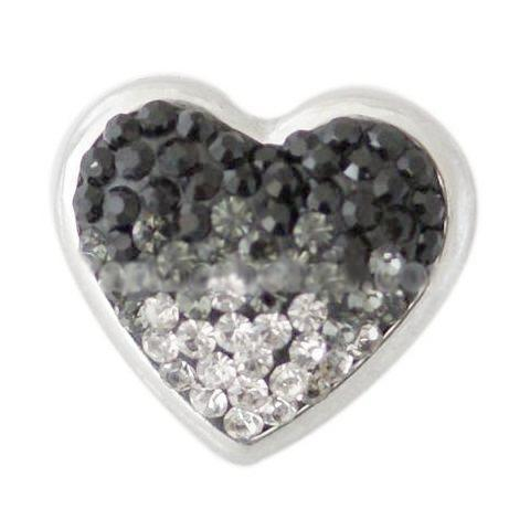 Black Full Crystal Heart Popper