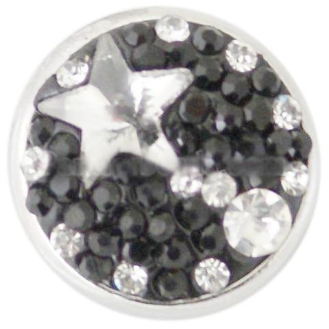 Black and White Star Crystal Snap