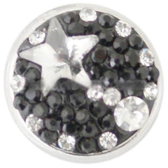 Black and White Star Crystal Popper