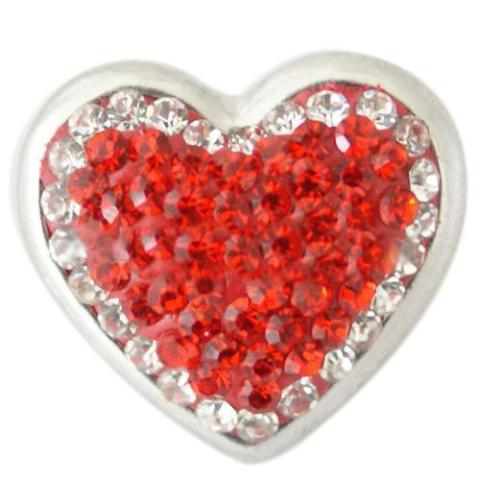 Red Crystal Heart Bursting White Snap