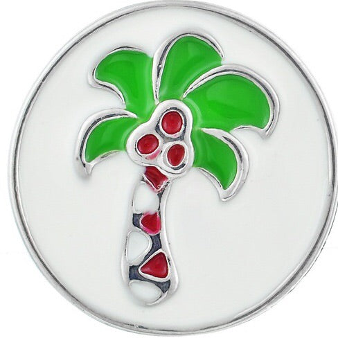 White Metal Palm Tree Snap
