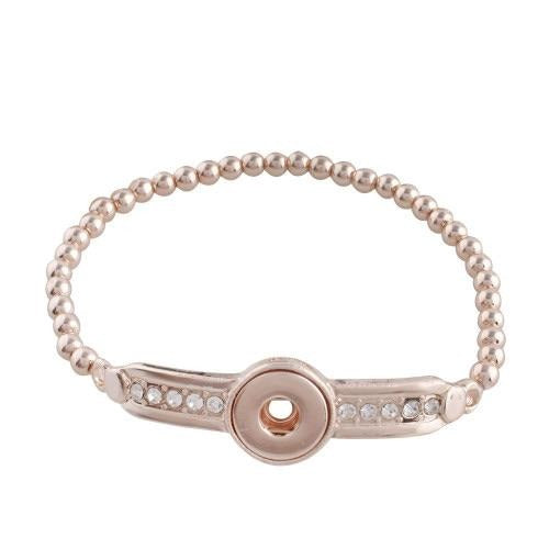 Rose Gold Elastic Mini Bracelet - Gracie Roze