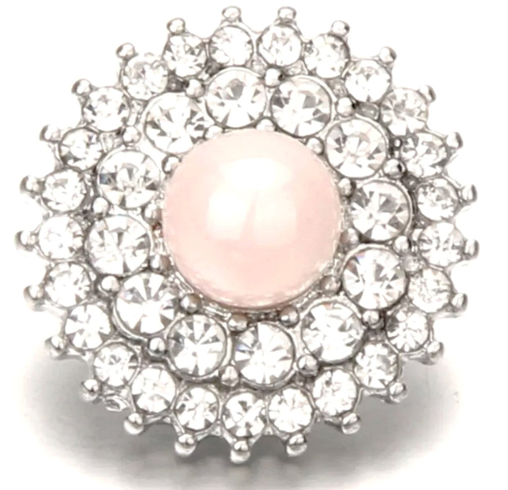 Pearl Pink Snap - Gracie Roze Yourself Expression Snap Jewelry