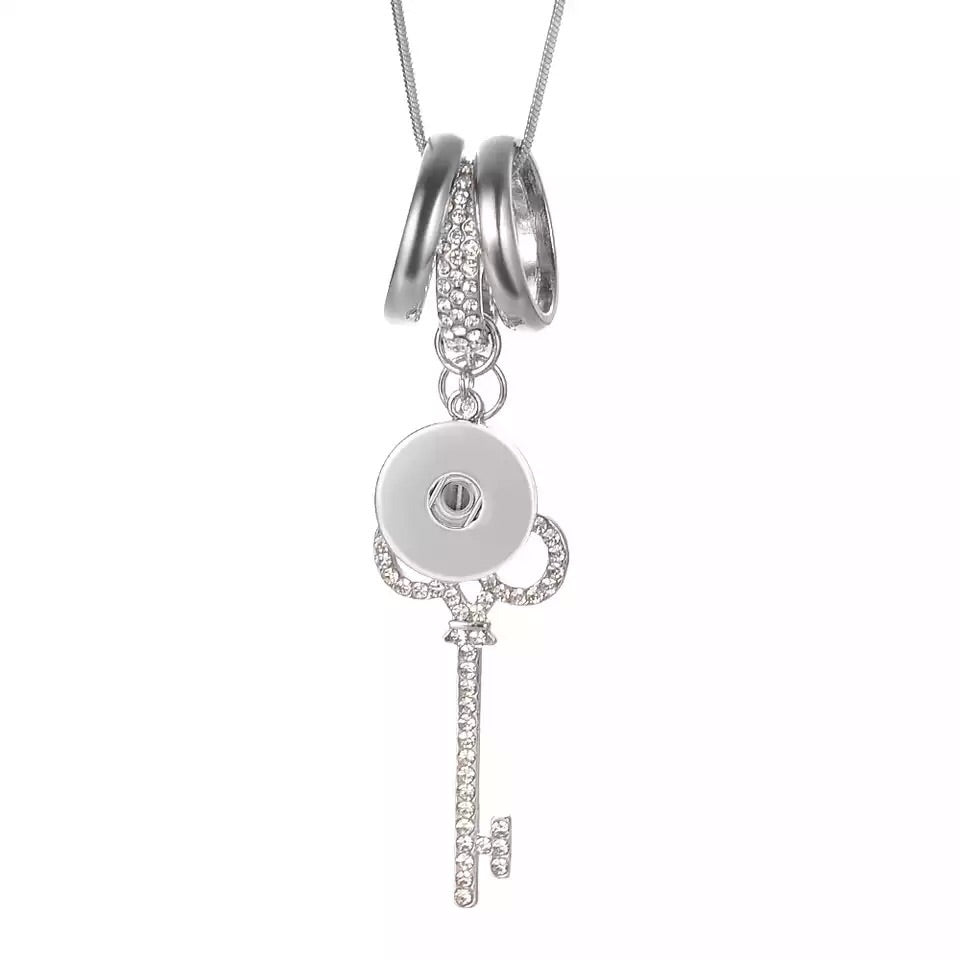 Key to Dream Necklace - Gracie Roze Yourself Expression Snap Jewelry