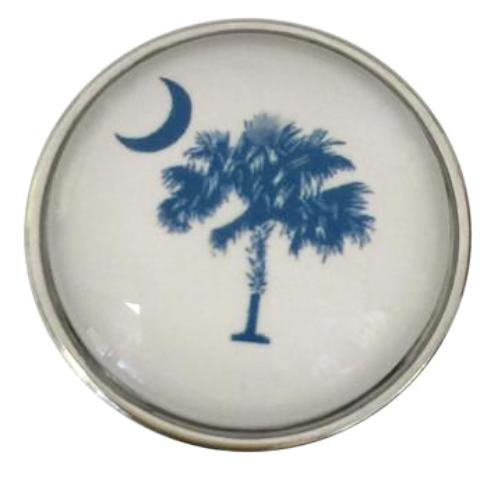 South Carolina Palmetto and Crescent Moon Snap - Gracie Roze Yourself Expression Snap Jewelry