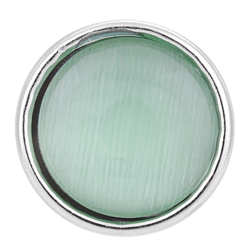 Green Gloss Stone Mini Snap - Gracie Roze Yourself Expression Snap Jewelry