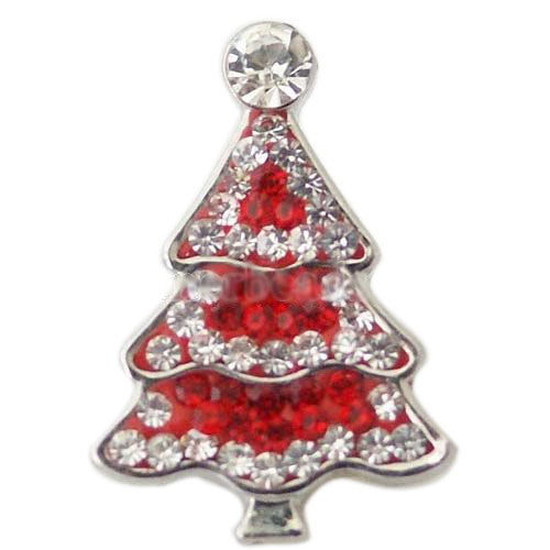Red and White Crystal Christmas Tree Popper