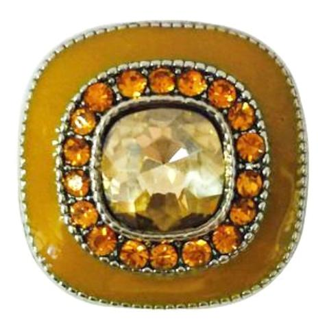 Honey and Amber Square Snap - Gracie Roze Yourself Expression Snap Jewelry