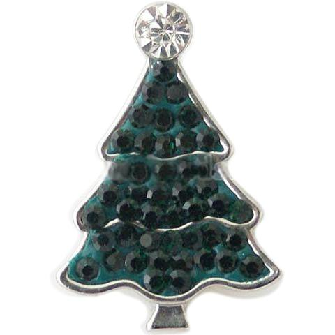 Dark Green Crystal Christmas Tree Popper
