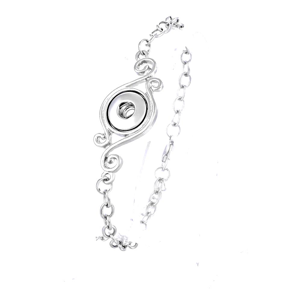 Silver Single Scroll Mini Bracelet