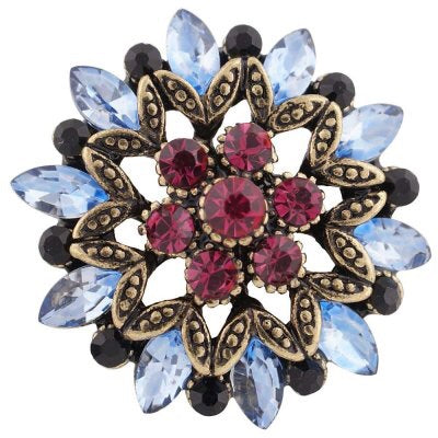 Blue Burgundy Starburst - Gracie Roze Yourself Expression Snap Jewelry