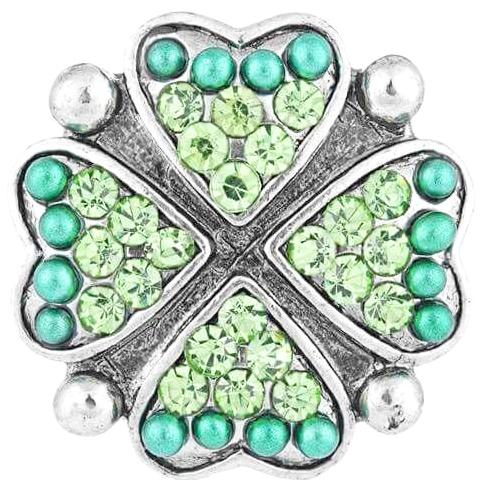 Crystal and Beaded Shamrock Popper