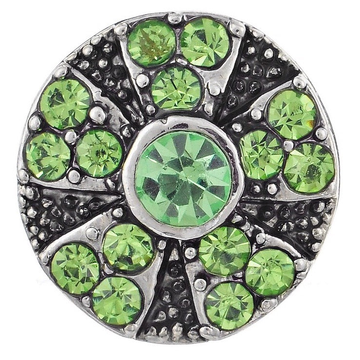 Green Wheel Mini Snap - Gracie Roze Yourself Expression Snap Jewelry