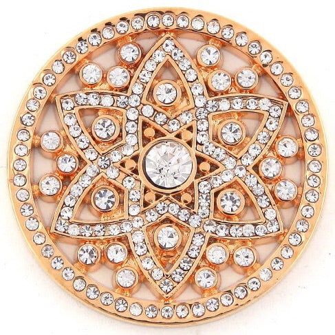 Gold Crystal 6 Sided Star Coin - Gracie Roze
