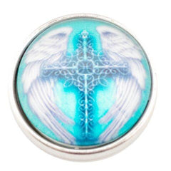 Blue Cross with Angel Wings Popper