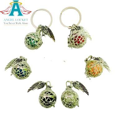 Angel Locket Key Chain