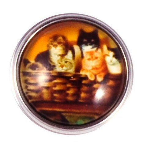 Basket of Cats Snap - Gracie Roze Yourself Expression Snap Jewelry