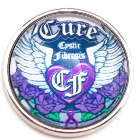 Cure Cystic Fibrosis Snap - Gracie Roze Yourself Expression Snap Jewelry