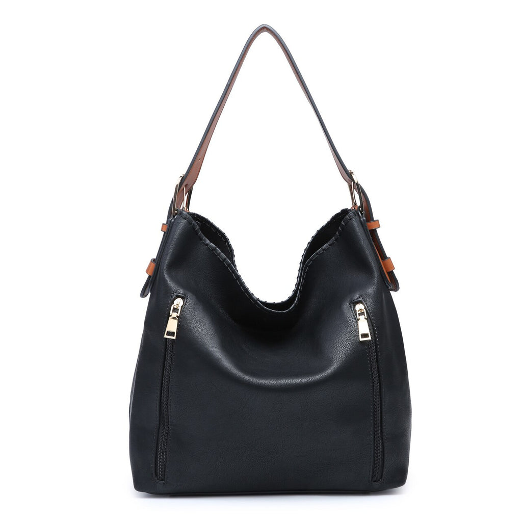Jen & Co. Conceal Carry Hobo Bag Black - Gracie Roze