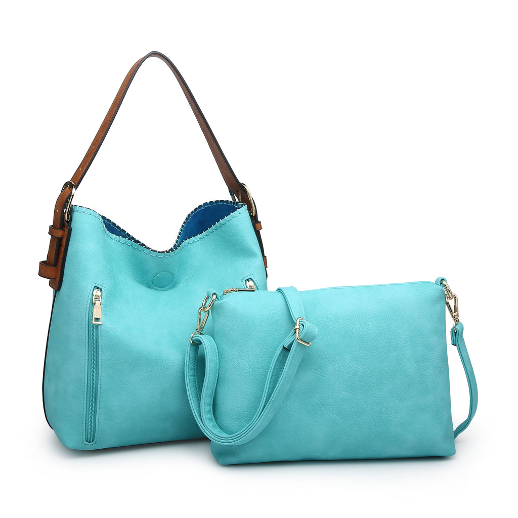 Jen & Co. Conceal Carry Hobo Bag Turquoise - Gracie Roze