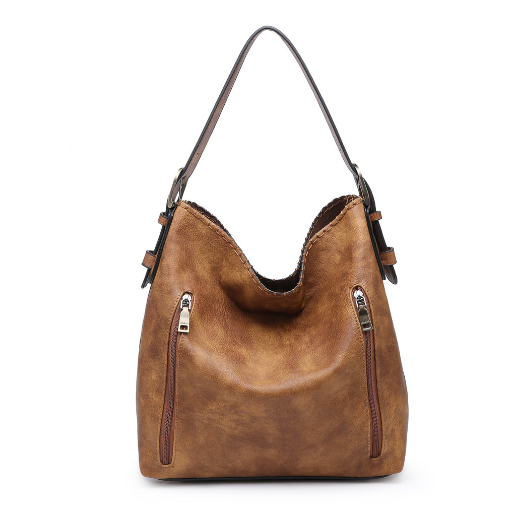 Jen & Co. Conceal Carry Hobo Bag Distressed Brown - Gracie Roze