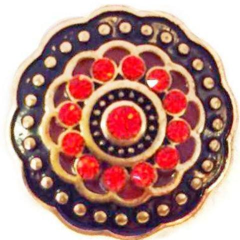 Black Gold and Red Doily Popper