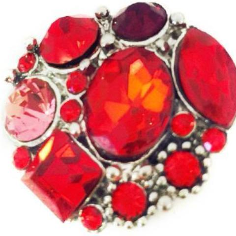 Red Hepburn Snap - Gracie Roze Yourself Expression Snap Jewelry