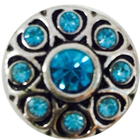 Teal Crystal Wheel Mini snap