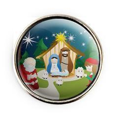 Merryam and Santa with the Nativity Snap - Gracie Roze Yourself Expression Snap Jewelry