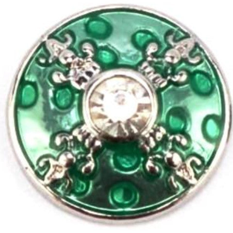 Emerald Green Metal Mini Snap - Gracie Roze Yourself Expression Snap Jewelry
