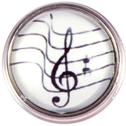 Black and White Music Note Popper