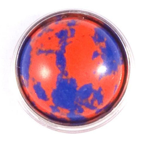 Blue and Orange Stone Snap - Gracie Roze Yourself Expression Snap Jewelry