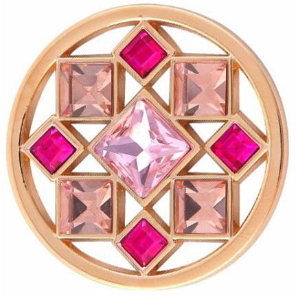 Gold and Pink Geometric Coin - Gracie Roze