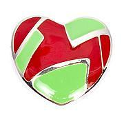 Red and Green Heart Snap
