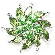 Green Crystal Pinwheel Snap - Gracie Roze