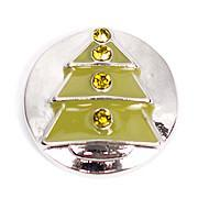 Silver and Green Metal Christmas Tree Snap - Gracie Roze